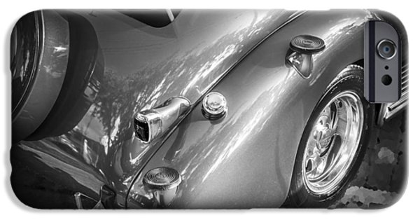 2 Seat iPhone Cases - 1938 Chevrolet Coupe with Rumble Seat BW iPhone Case by Rich Franco