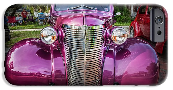 2 Seat iPhone Cases - 1938 Chevrolet Coupe with Rumble Seat Painted iPhone Case by Rich Franco