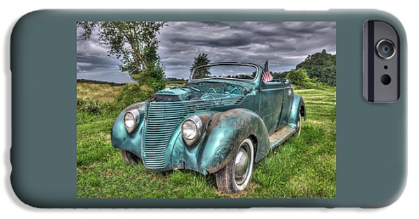 Automotive iPhone Cases - 1938 Ford Convertible iPhone Case by Thom Zehrfeld