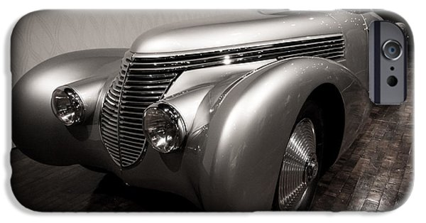 Frist Museum iPhone Cases - 1938 Hispano-Suiza H6 Dubonnet Xenia Coupe iPhone Case by Steve Munoz