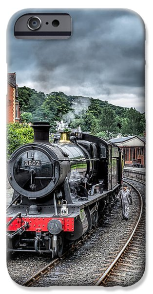 Steam Locomotive iPhone Cases - 1938 Steam Loco iPhone Case by Adrian Evans