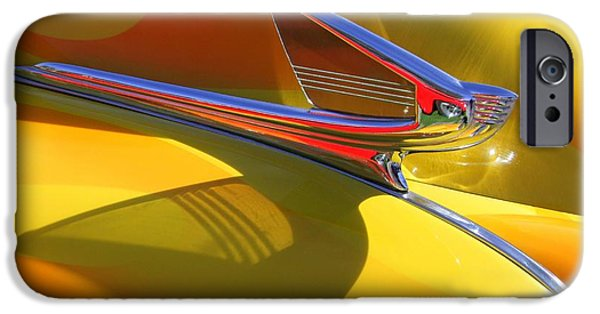 Old Cars iPhone Cases - 1939 Chevy Hood Ornament iPhone Case by Mary Deal