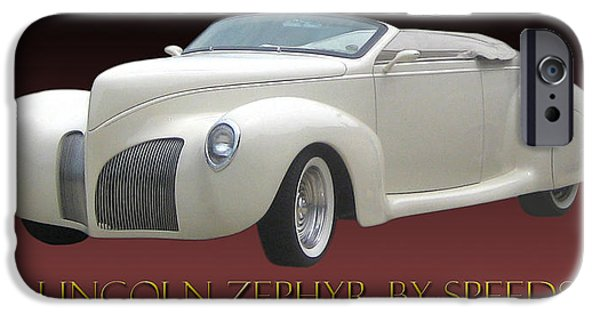 Will Power iPhone Cases - 1939 Lincoln Zephyr Poster iPhone Case by Jack Pumphrey