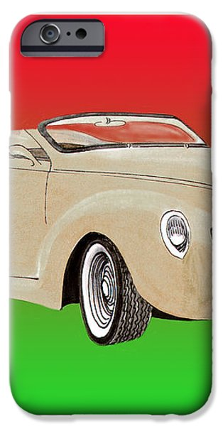 1939 Lincoln Zephyr Speedster iPhone Case by Jack Pumphrey