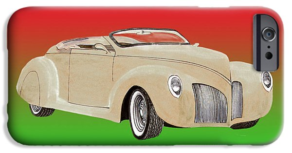 Will Power iPhone Cases - 1939 Lincoln Zephyr Speedster iPhone Case by Jack Pumphrey