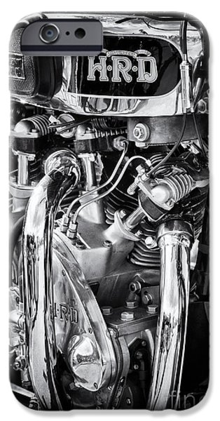 Culture iPhone Cases - 1939 Vincent HRD Series A Rapide iPhone Case by Tim Gainey