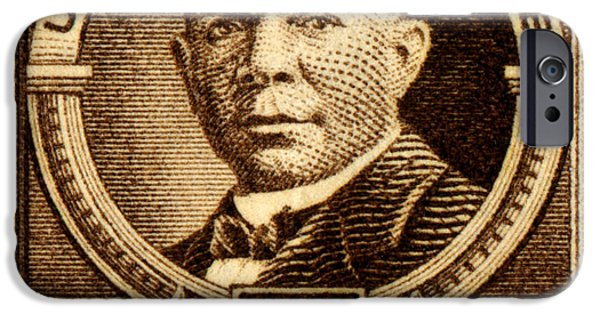 Booker T. iPhone Cases - 1940 Booker T. Washington Stamp iPhone Case by Historic Image