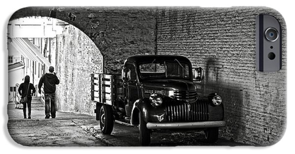 Alcatraz iPhone Cases - 1940 Chevrolet pickup truck in Alcatraz Prison iPhone Case by RicardMN Photography