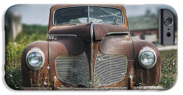 Rust iPhone Cases - 1940 DeSoto Deluxe iPhone Case by Scott Norris