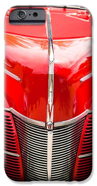 Classic Car Photographer iPhone Cases - 1940 Ford Deluxe Coupe Grille iPhone Case by Jill Reger