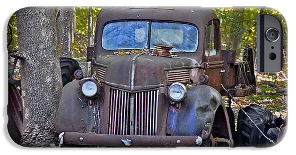 Disorder iPhone Cases - 1940 Ford Dump Truck iPhone Case by Gary Keesler