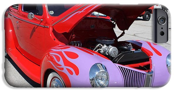 Board iPhone Cases - 1940 Ford Two Door Sedan Hot Rod iPhone Case by John Telfer