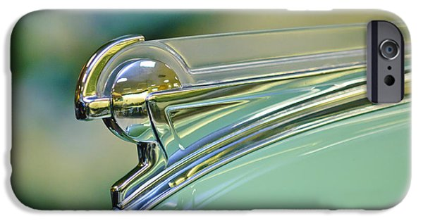 Collector Hood Ornament iPhone Cases - 1940 Oldsmobile Hood Ornament iPhone Case by Jill Reger