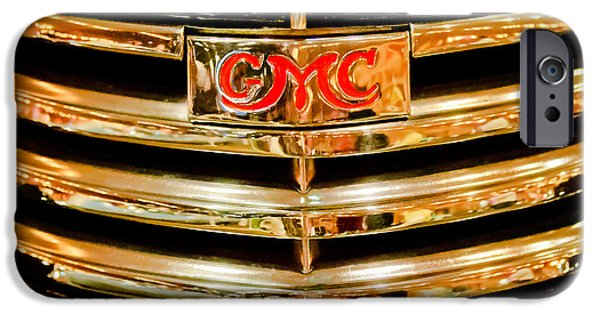 1941 iPhone Cases - 1941 GMC Suburban Woody Wagon Grille Emblem iPhone Case by Jill Reger