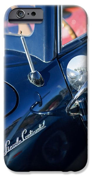 Lincoln iPhone Cases - 1941 Lincoln Continental Convertible Emblem iPhone Case by Jill Reger