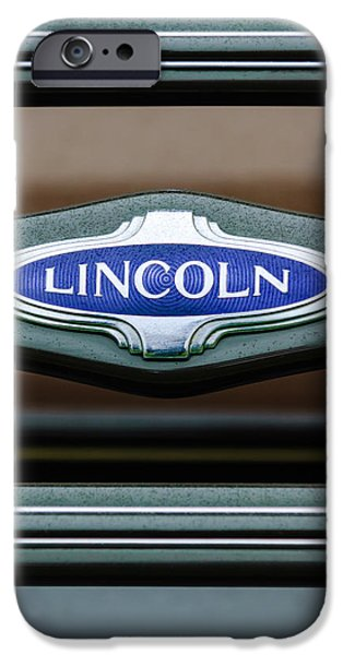 1941 iPhone Cases - 1941 Lincoln Emblem iPhone Case by Jill Reger