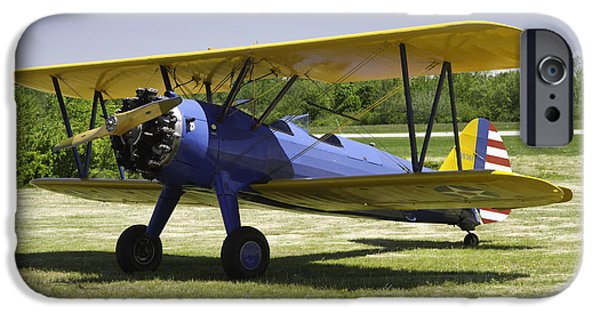 1941 iPhone Cases - 1941 Stearman A75N1 Biplane Airplane  iPhone Case by Keith Webber Jr