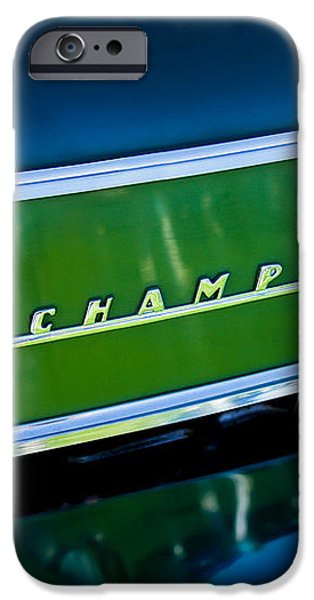 1941 Sudebaker Champion Coupe Emblem iPhone Case by Jill Reger