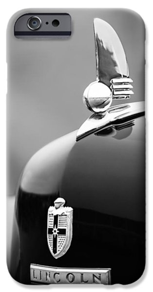 Lincoln iPhone Cases - 1942 Lincoln Continental Cabriolet Hood Ornament - Emblem iPhone Case by Jill Reger
