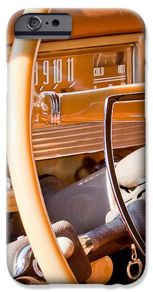 1942 Packard Darrin Convertible Victoria Steering Wheel iPhone Case by Jill Reger
