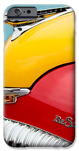 1946 DeSoto Skyview Taxi Cab Hood Ornament iPhone Case by Jill Reger