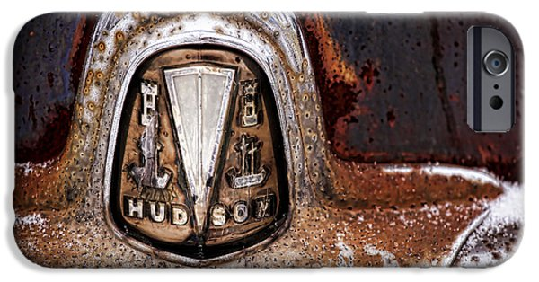 Jetliner Chrome iPhone Cases - 1946 Hudson Coupe  iPhone Case by Gordon Dean II