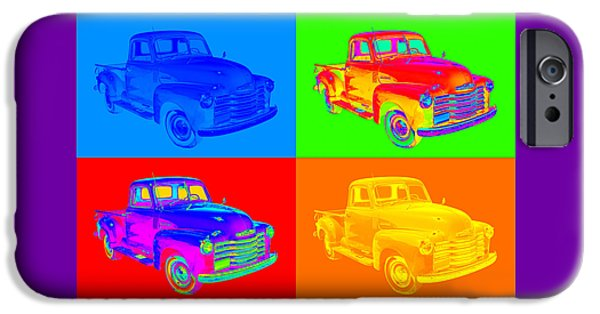 Warhol iPhone Cases - 1947 Chevrolet Thriftmaster Pickup Pop Art iPhone Case by Keith Webber Jr