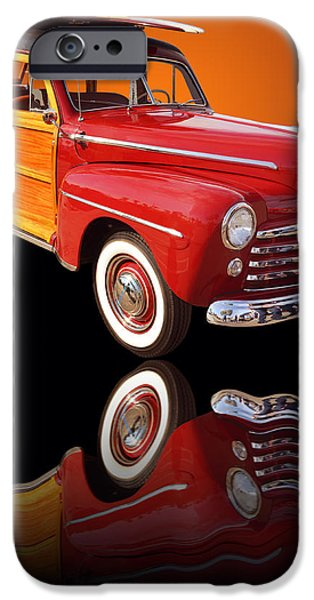 1947 Ford Woody iPhone Case by Jim Carrell