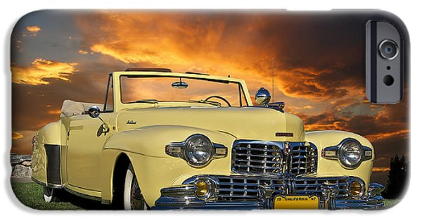 Injections iPhone Cases - 1947 Lincoln Continental Cabriolet iPhone Case by Dave Koontz