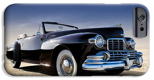 Lincoln Digital Art iPhone Cases - 1947 Lincoln Continental iPhone Case by Douglas Pittman