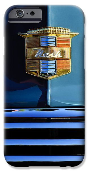 1947 Nash Surburban Hood Ornament iPhone Case by Jill Reger