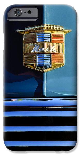 1947 Nash Surburban Hood Ornament iPhone Case by Jill Reger
