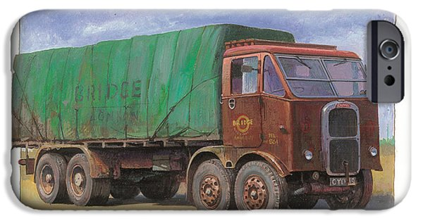 Inexpensive iPhone Cases - 1947 Scammell R8 iPhone Case by Mike  Jeffries