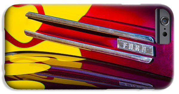 Panels iPhone Cases - 1948 Ford Panel Truck iPhone Case by Carol Leigh