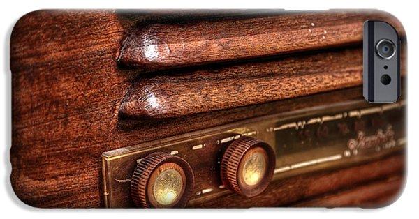 1940s iPhone Cases - 1948 Mantola radio iPhone Case by Scott Norris