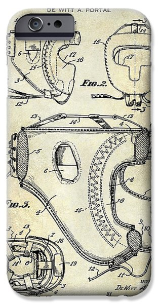 Boxer Photographs iPhone Cases - 1949 Boxer Headgear Patent Drawing  iPhone Case by Jon Neidert
