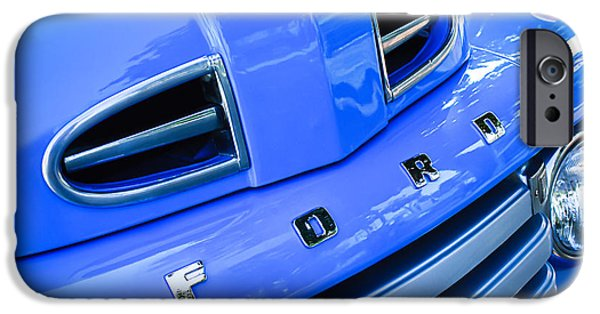 F 1 iPhone Cases - 1949 Ford F-1 Pickup Truck Grille Emblem -0009C iPhone Case by Jill Reger