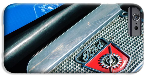 F 1 iPhone Cases - 1949 Ford F-1 Pickup Truck Step Plate Emblem -0043C iPhone Case by Jill Reger
