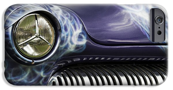 Airbrush iPhone Cases - 1949 Mercury Eight Hot Rod iPhone Case by Tim Gainey