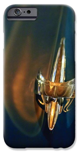 1949 Mercury Woody Wagon Hood Ornament iPhone Case by Jill Reger