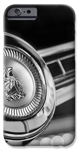 1949 Plymouth P-18 Special Deluxe Convertible Steering Wheel Emblem iPhone Case by Jill Reger