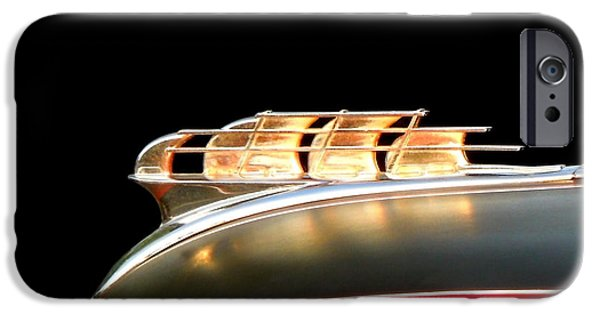 1949 Plymouth iPhone Cases - 1949 Plymouth Schooner Hood Ornament iPhone Case by Renee Trenholm