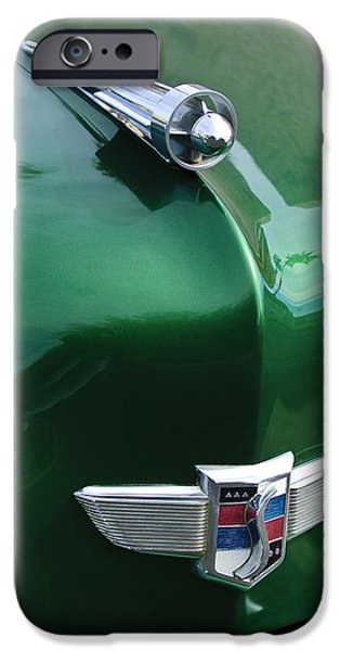 1949 Studebaker Champion Hood Ornament iPhone Case by Jill Reger