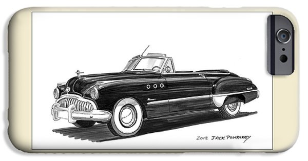 1950s Movies iPhone Cases - 1950 Buick Special Convertible iPhone Case by Jack Pumphrey