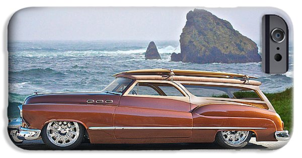 Slam Photographs iPhone Cases - 1950 Buick Woody Wagon V iPhone Case by Dave Koontz