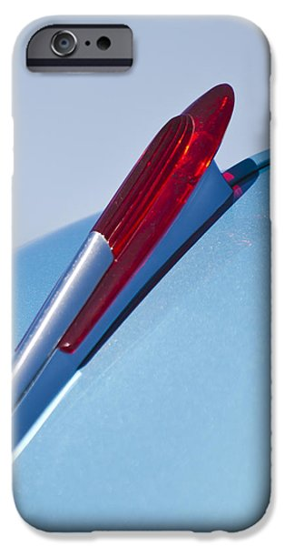 1950 iPhone Cases - 1950 Chevrolet Hood Ornament iPhone Case by Jill Reger