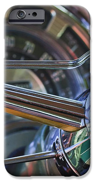 1950 Chrysler New Yorker Coupe Steering Wheel Emblem iPhone Case by Jill Reger