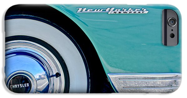 1950 iPhone Cases - 1950 Chrysler New Yorker Coupe Wheel Emblem iPhone Case by Jill Reger