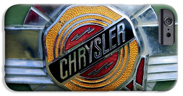 Windsor iPhone Cases - 1950 Chrysler Windsor Emblem iPhone Case by Jill Reger