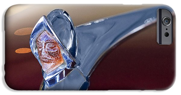 1950 iPhone Cases - 1950 Desoto Custom Sedan Hood Ornament iPhone Case by Jill Reger
